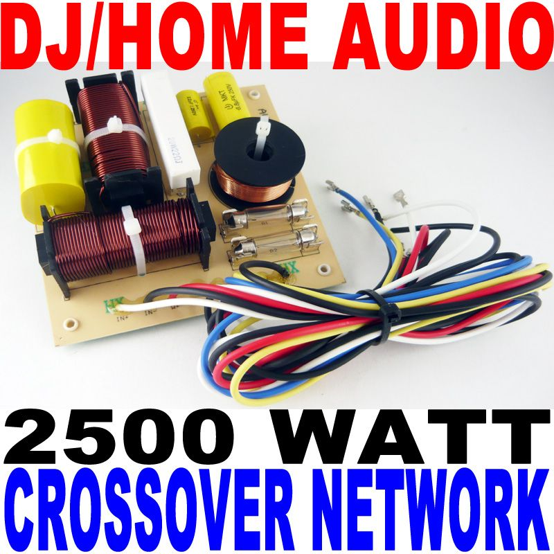 2500 WATT DJ/HOME AUDIO CROSSOVER NETWORK 3-WAY NEW!