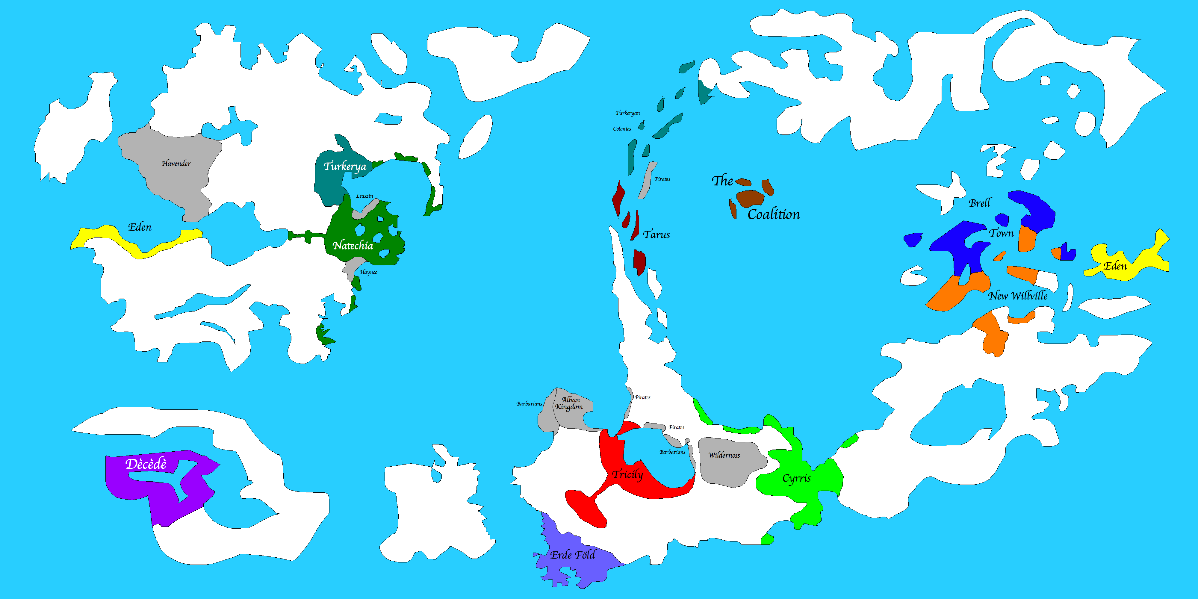 Fantasy Countries Xkcd