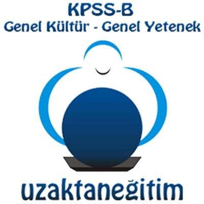 KPSS-B Uzaktan Eğitim (Genel Kültür - Genel Yetenek)