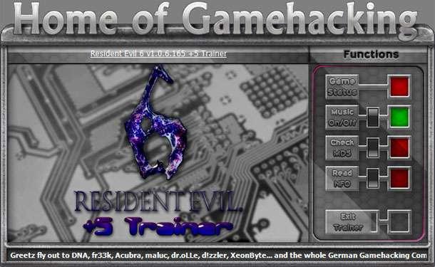 Resident Evil 6 v1.0.6.165 +5 Trainer – Fixed [HoG]