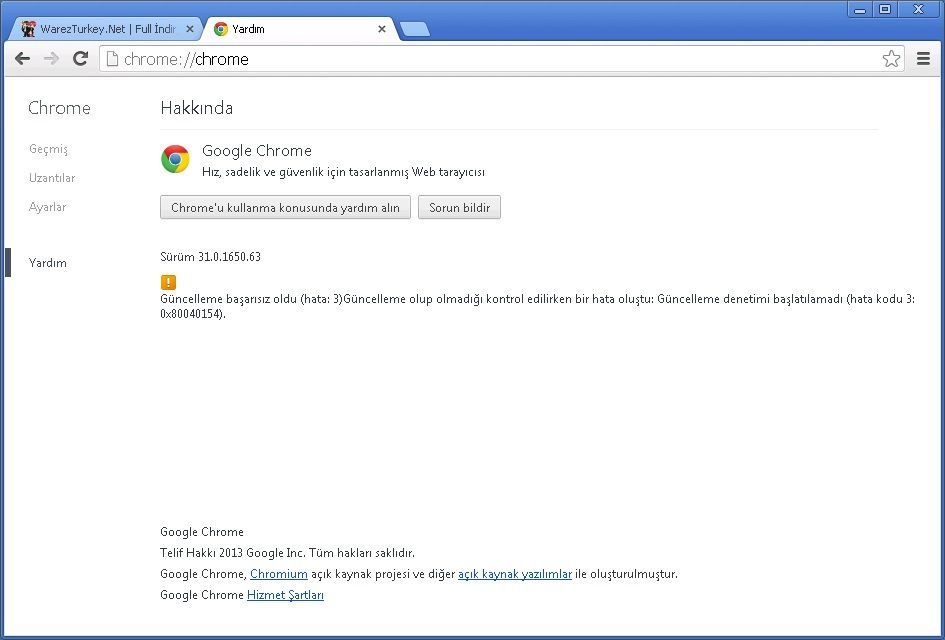 Google Chrome v31.0.1650.63 Final Türkçe (Win/Mac/Linux)