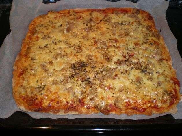 6atf - Pizza de atún y verdura salteada