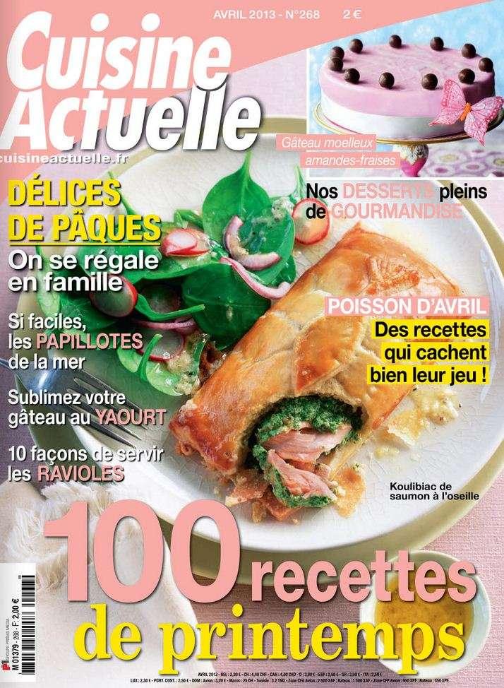 Cuisine Actuelle N°268 Avril 2013