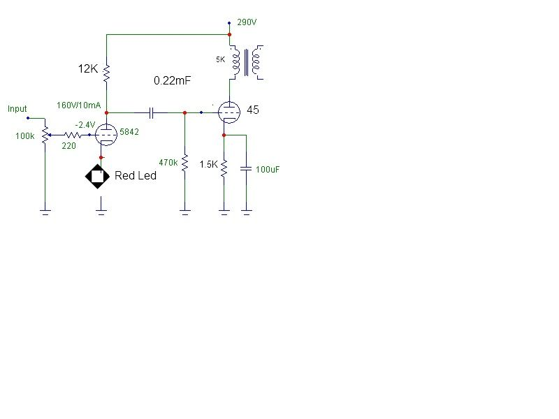 N on Single Ended Tube Amp Schematic