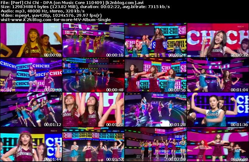 [Perf] Chi Chi   Don't Play Around (on Music Core 110409)