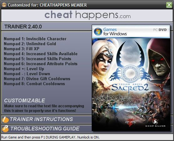 Screens Zimmer 4 angezeig: sacred 2 trainer