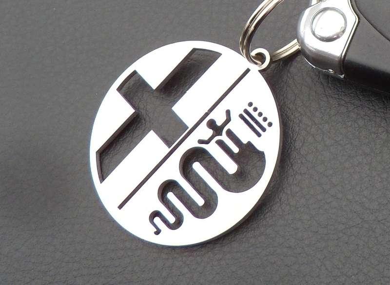 Alfa Romeo BRERA Leather Keyring Schlüsselring Porte-clés GTV S JTD JTS TBI JTDM