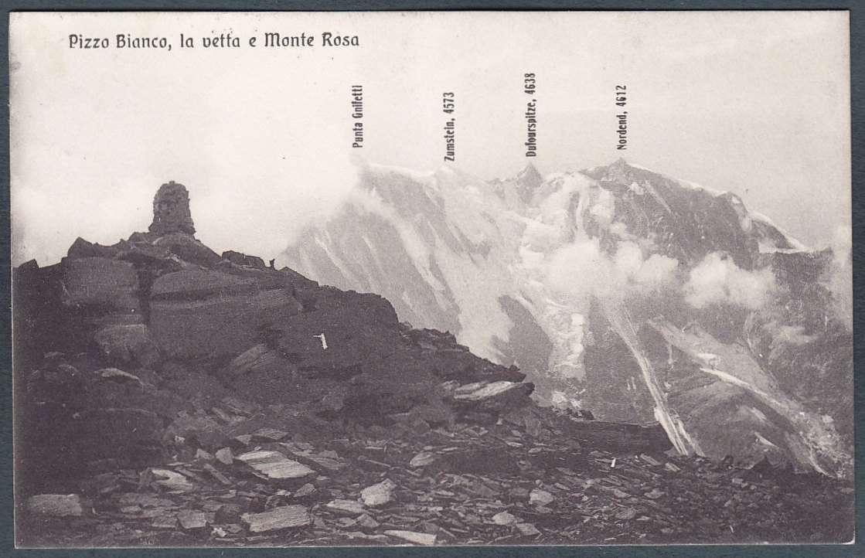Ufficio Postale Via Monte Rosa Novara : Verbania monte rosa 29 pizzo bianco montagna cartolina viaggiata